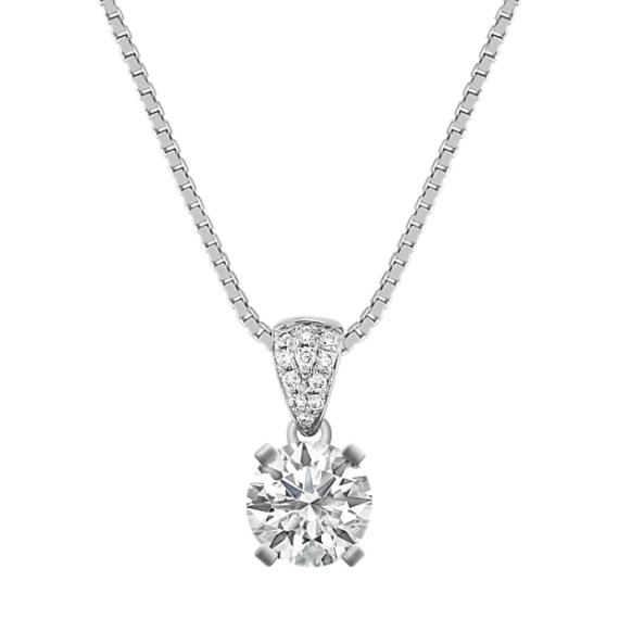 "Round Diamond Cluster Pendant (18"")"