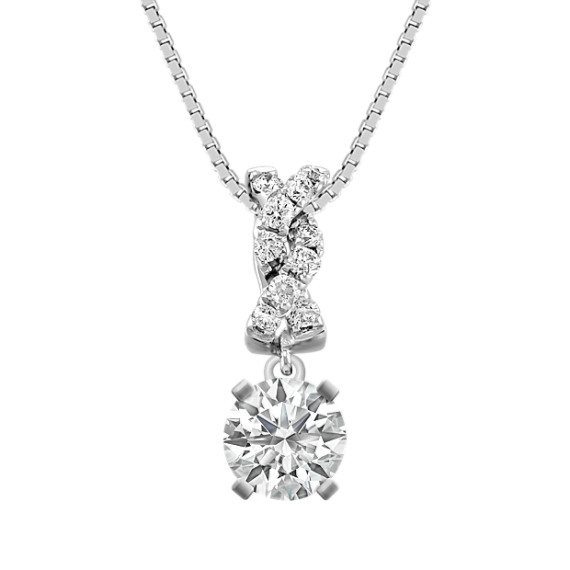 "Round Diamond Pendant (18"")"