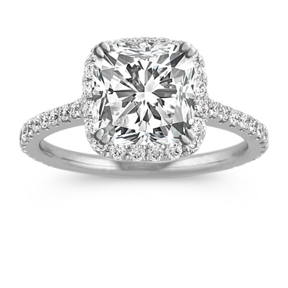 Halo Diamond Engagement Ring For 200 Carat Cushion Cut