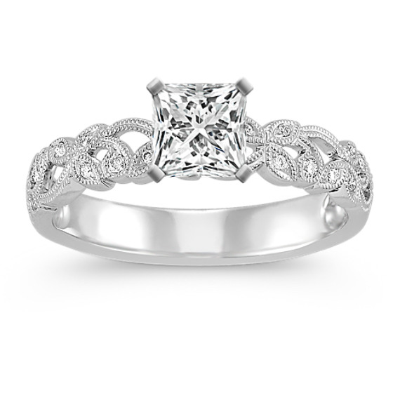 Vintage Vine and Milgrain Detailed Diamond Engagement Ring