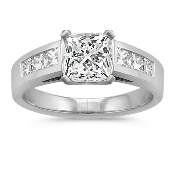 Tension-Set Princess Cut Diamond Engagement Ring