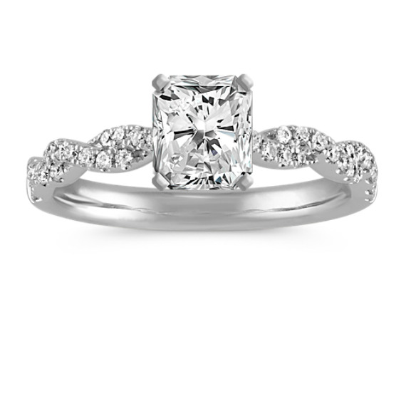 Diamond Infinity Engagement Ring with Pavé-Setting