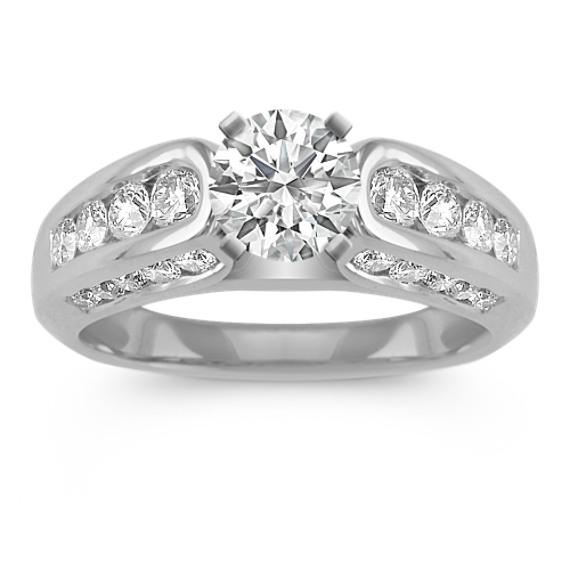 Channel-Set Round Diamond Engagement Ring