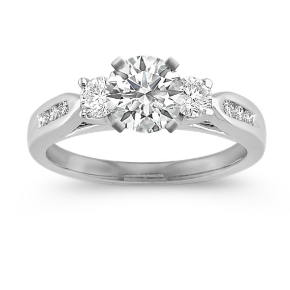 Three-Stone Round Diamond Engagement Ring