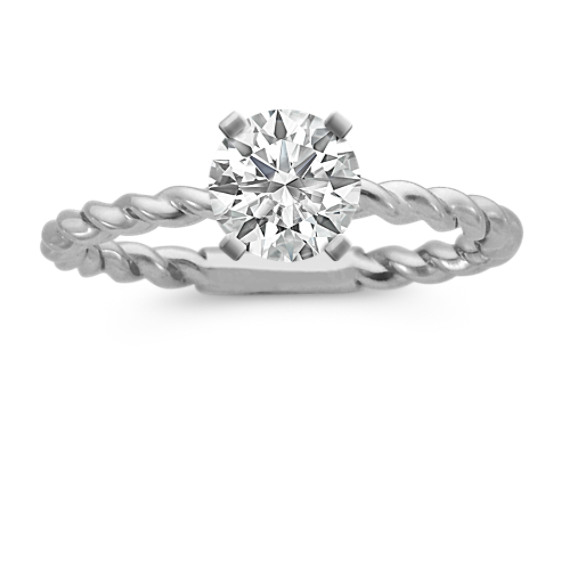 Solitaire White Gold Engagement Ring
