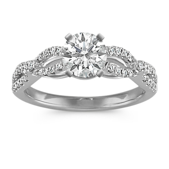 Infinity Cathedral Diamond Engagement Ring