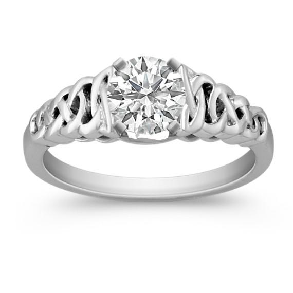 14k White Gold Ring