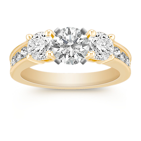 Three-Stone Diamond Engagement Ring with Channel-Setting