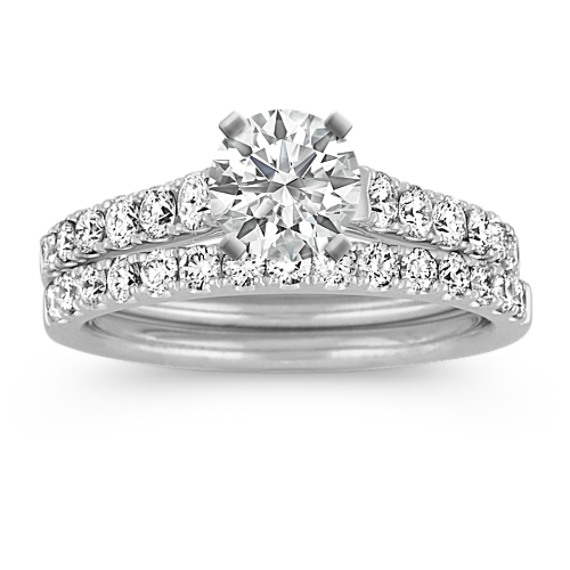 Cathedral Diamond Wedding Set