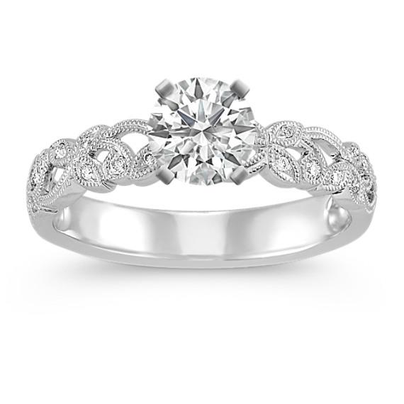Vintage Vine and Milgrain Detailed Diamond Engagement Ring