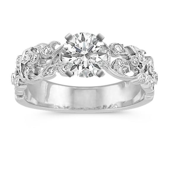 Vintage Vine Diamond Engagement Ring
