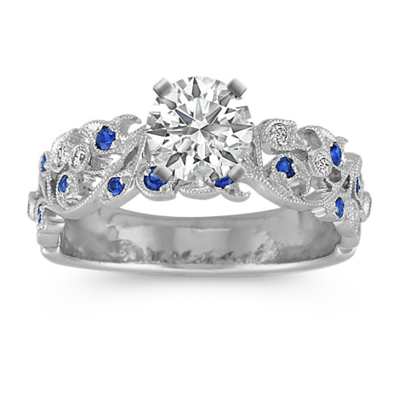 Sapphire and Diamond Vintage Engagement Ring