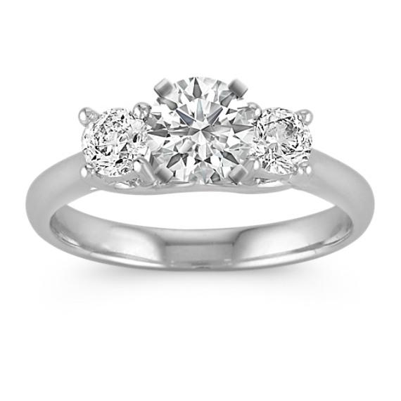 Diamond Three-Stone Engagement Ring in Platinum