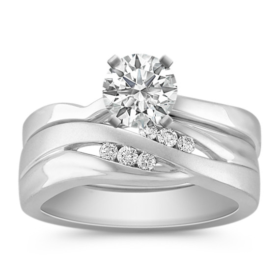 Diamond Wedding Set with Channel-Setting