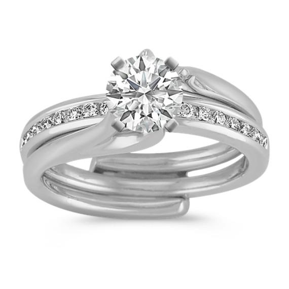 Classic Diamond Wedding Set with Channel-Setting