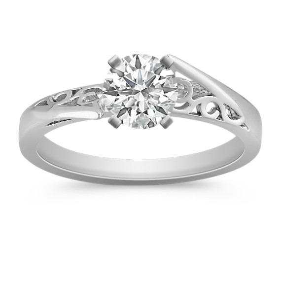 Platinum Vintage Solitaire Engagement Ring