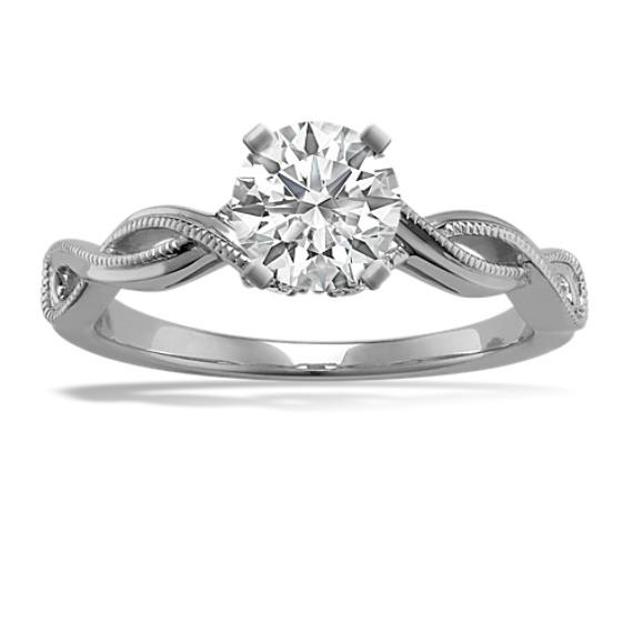 Infinity Swirl Diamond Engagement Ring