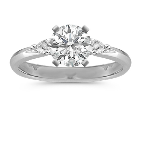 Three-Stone Pear-Shaped Diamond Platinum Engagement Ring