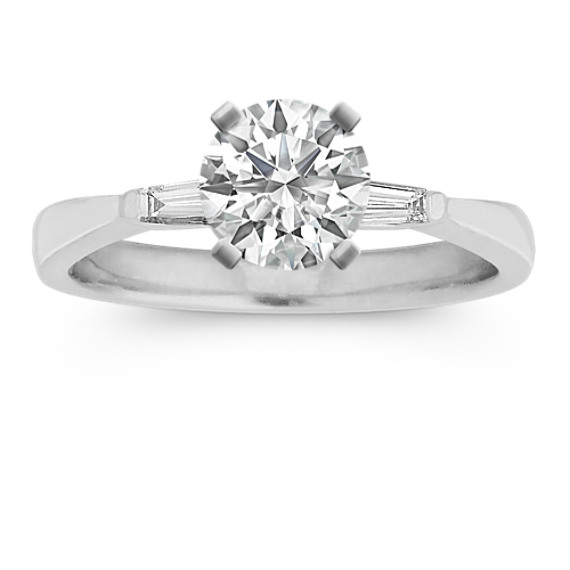 Three-Stone Baguette Diamond Engagement Ring