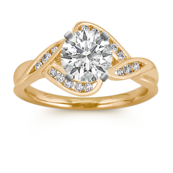 Modern Round Diamond Ring with Channel-Setting