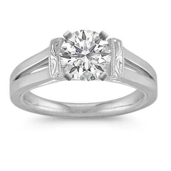 Vintage Solitaire Platinum Engagement Ring
