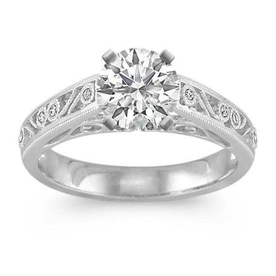 Vintage Diamond Engagement Ring with Bezel Setting