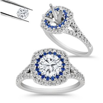 Show her your love through a personalized engagement ring