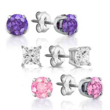 Stud Earrings, Diamonds, sapphires, or rubies will have her smiling from ear to ear.