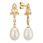 1.5-7.5mm Cultured Freshwater Pearl Dangle Earrings in 14k Yellow Gold