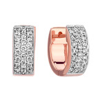 Diamond Hoop Earrings in 14k Rose Gold