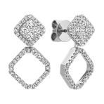Diamond Multiple Look Square Cluster Earrings