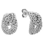Knotted Rope Earrings in Sterling Silver