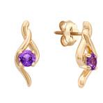 Round Lavender Sapphire Earrings