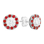 Ruby Circle Earring Jackets