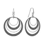 Sterling Silver Circle Cut-Out Earrings