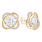 Twist Diamond Earring Jackets in Yellow Gold