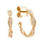 Twist Diamond Hoop Earrings