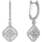 Vintage Diamond Cluster Earrings