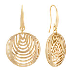 Yellow Sterling Silver Ripple Earrings