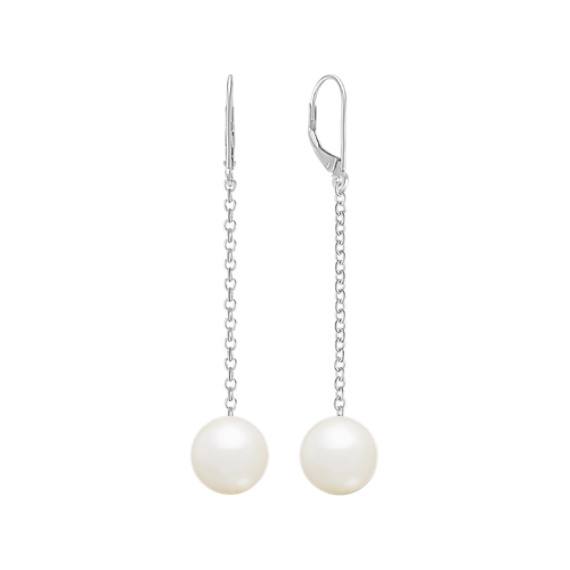 10mm Cultured South Sea Pearl Leverback Earrings