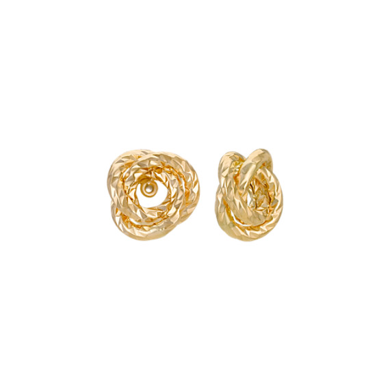 14k Yellow Gold Knot Earring Jackets