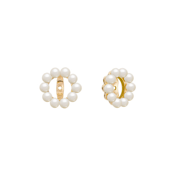 2.5mm Cultured Freshwater Pearl Earring Jackets