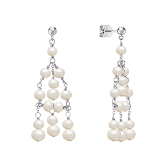 4-5.5mm Cultured Freshwater Pearl Earrings in Sterling Silver