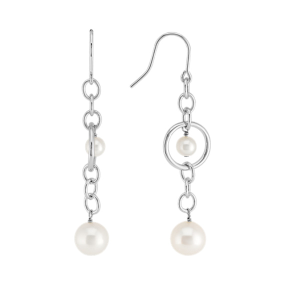 5-10mm Cultured Freshwater Pearl and Sterling Silver Earrings