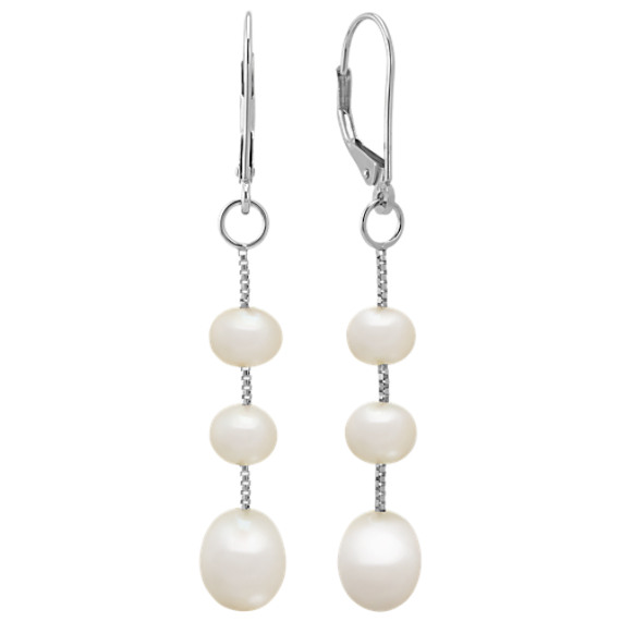 5.5mm Cultured Freshwater Pearl Earrings