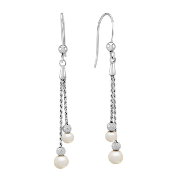 5mm Cultured Freshwater Pearl and Sterling Silver Earrings