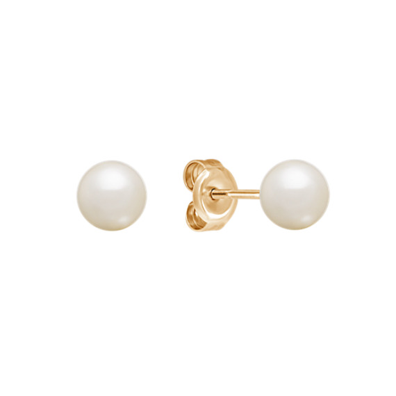 5mm Cultured Freshwater Pearl Solitaire Earrings