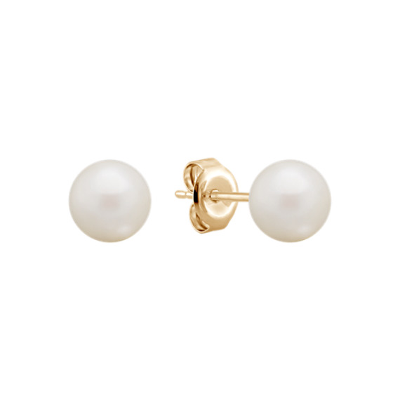 6mm Cultured Akoya Pearl Solitaire Earrings