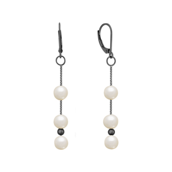 6mm Cultured Freshwater Pearl and Sterling Silver Earrings