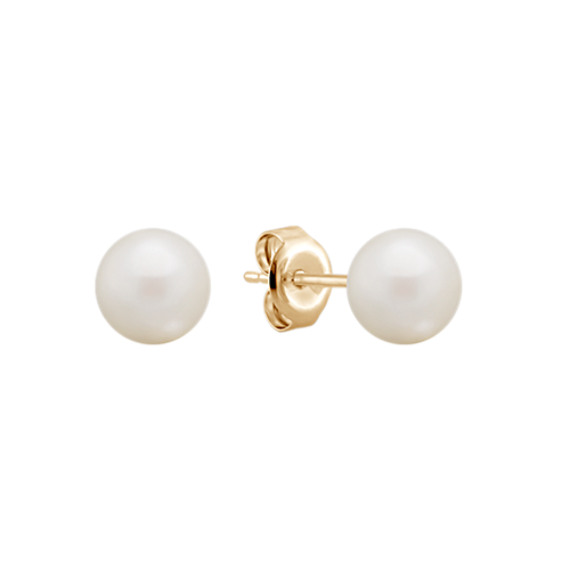 6mm Cultured Freshwater Pearl Earrings